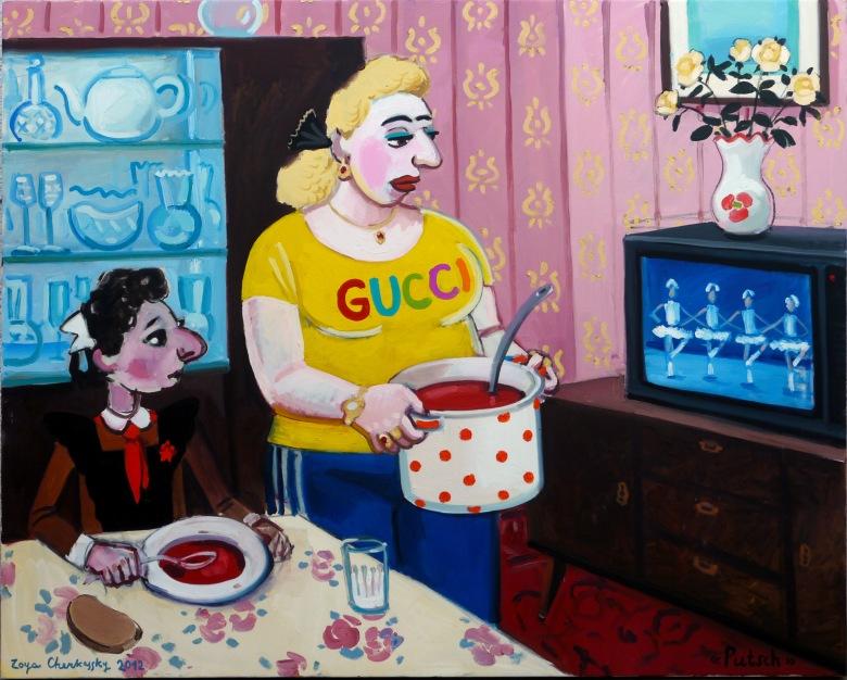 Putsch, 2012, oil on canvas, 120x150cm