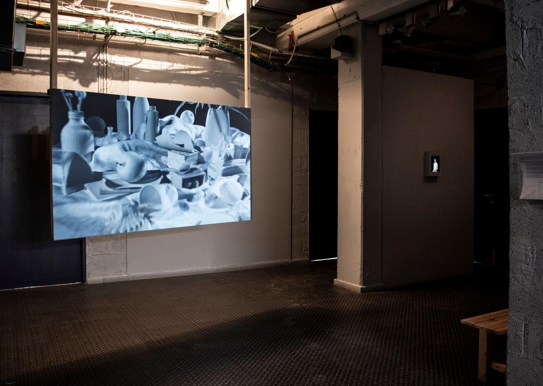 Installation View, 'Artist Wall I Blind Spot, Nino Biniashvili hosts Renana Aldor', Art Cube Artists' Studios, Jerusalem,2018 (04)
